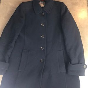 J. Crew Doublecloth Navy Thinsulate Peacoat
